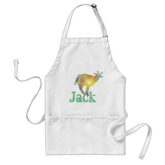 Yellow Art Goat on Things, Design with Your Name Standard Apron