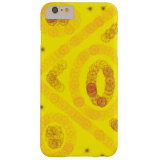 Yellow arty design barely there iPhone 6 plus case