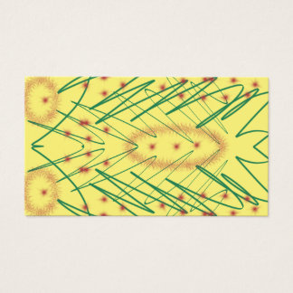 Yellow arty design business card