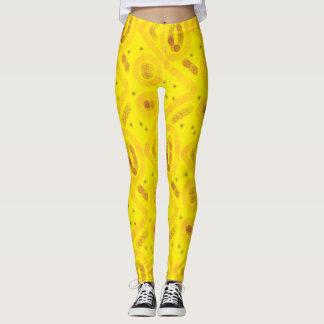 Yellow arty design leggings
