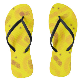 Yellow arty design thongs