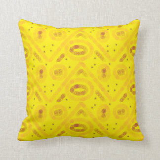 Yellow arty design throw pillow