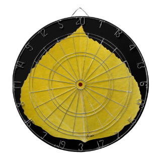 Yellow Aspen Leaf #5 Dartboard