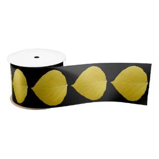 Yellow Aspen Leaf #5 Satin Ribbon
