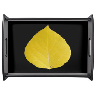 Yellow Aspen Leaf #5 Serving Tray