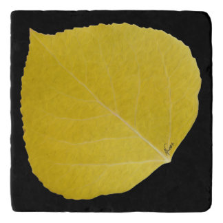 Yellow Aspen Leaf #5 Trivet