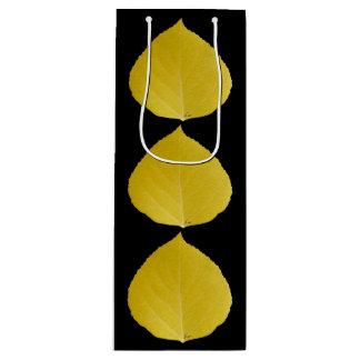 Yellow Aspen Leaf #5 Wine Gift Bag