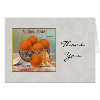 Yellow Aster Brand Oranges Note Card