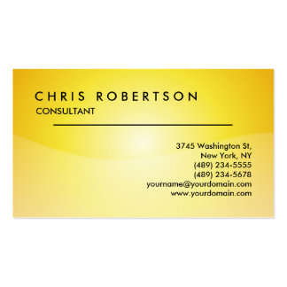 Yellow Attractive Professional Business Card