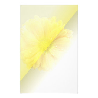 Yellow Aural Flora Stationery Paper