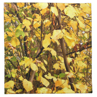 YELLOW AUTUMN LEAVES CLOTH NAPKINS