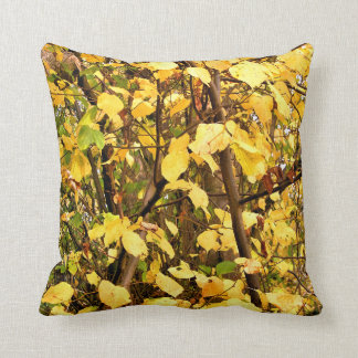 YELLOW AUTUMN LEAVES THROW PILLOW