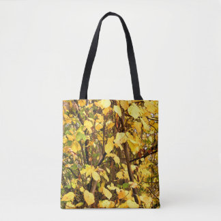 YELLOW AUTUMN LEAVES TOTE BAG