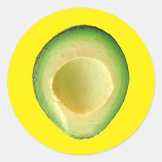 Yellow Avocado Fiesta 4Harvey Classic Round Sticker