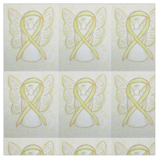 Yellow Awareness Ribbon Angel Fabric Material