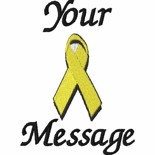 Yellow awareness ribbon - Customize