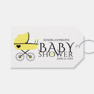 Yellow Baby Carriage Baby Shower