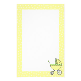 Yellow Baby Carriage Stationery