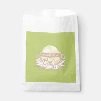 Yellow Baby Shower Modern Nature Favor Bag