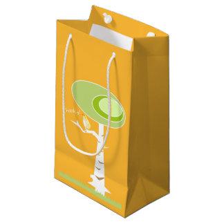 Yellow Baby Shower Modern Nature Orange Gift Bag