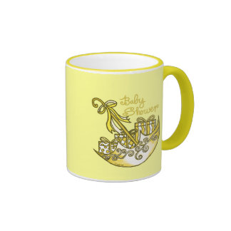 Yellow Baby Shower Parasol Coffee Mug