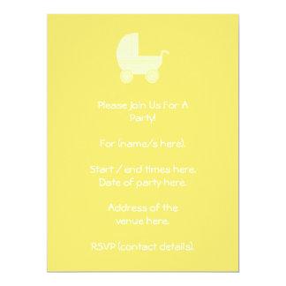 Yellow Baby Stroller. Card