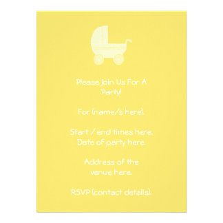 Yellow Baby Stroller Announcements