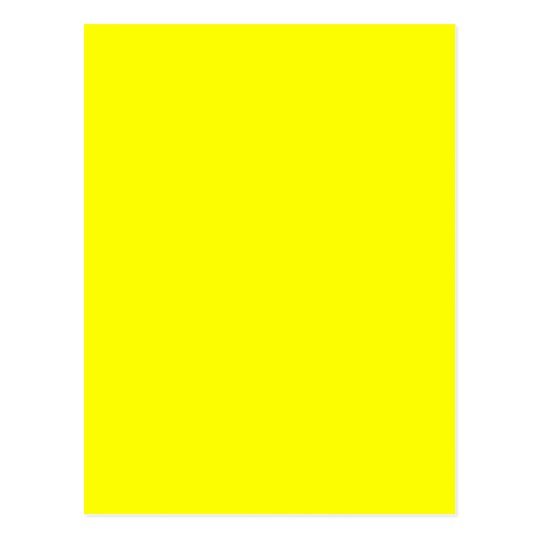 Yellow Background Blank Template Postcard