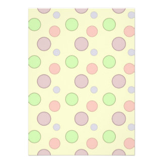 Yellow Background Bubbles Pattern Custom Announcements