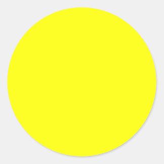 Yellow Background Customizable Classic Round Sticker