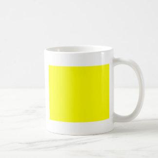 Yellow Background Customizable Coffee Mug
