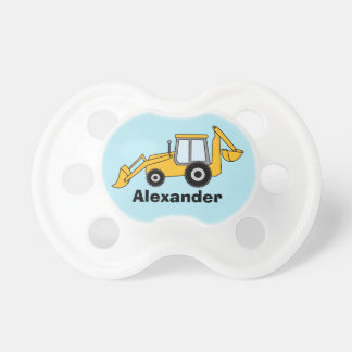 Yellow Backhoe With Loader Personalized Dummy