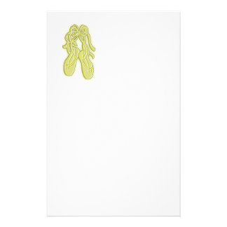 Yellow Ballet Shoes Custom Stationery