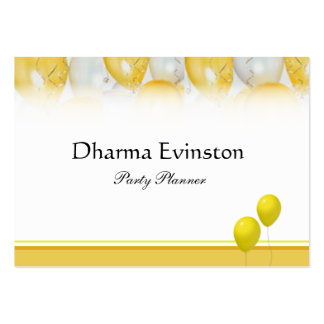 Yellow Balloons Business Card