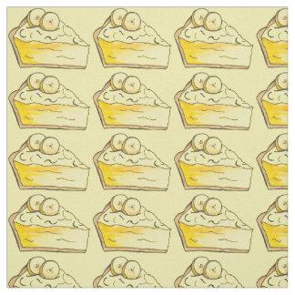 Yellow Banana Cream Pie Slice Dessert Fabric