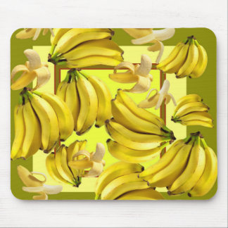 yellow bananas mouse pad