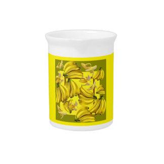 yellow bananas pitcher