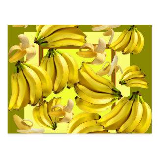 yellow bananas postcard