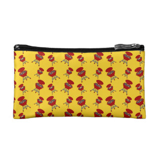 yellow barbeque pattern cosmetics bags