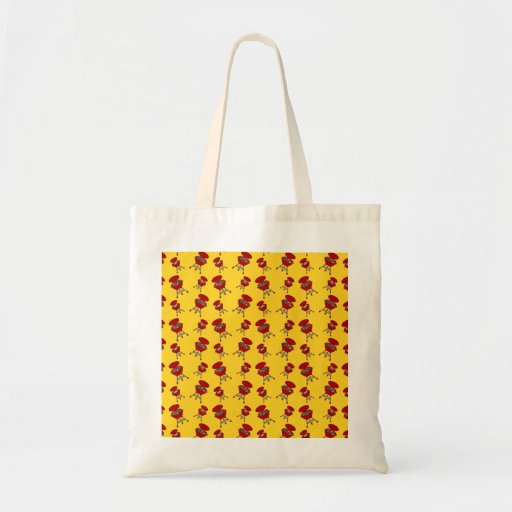 yellow barbeque pattern canvas bag