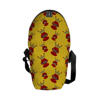 yellow barbeque pattern courier bag