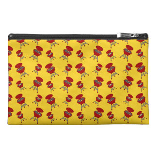 yellow barbeque pattern travel accessories bag