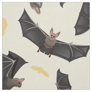 yellow bats fabric