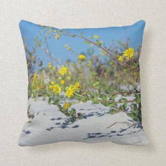 Yellow Beach Flowers Cushion