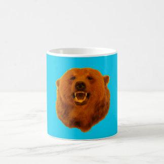 Yellow Bear - 0n Blue Coffee Mug