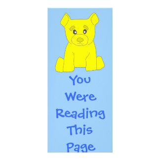 Yellow Bear Bookmark Template Customized Rack Card