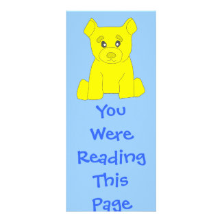 Yellow Bear Bookmark Template Rack Card