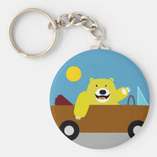 Yellow Bear Driving Key Ring