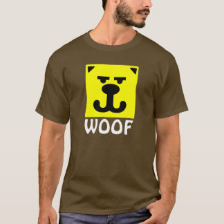 Yellow Bear Smiley Woof T-Shirt