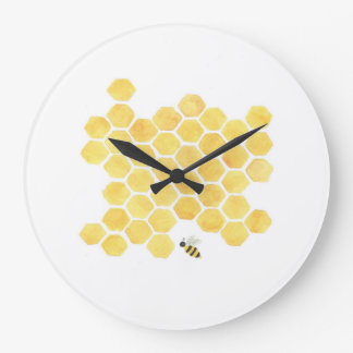 yellow bee wall clock kitchen nursery